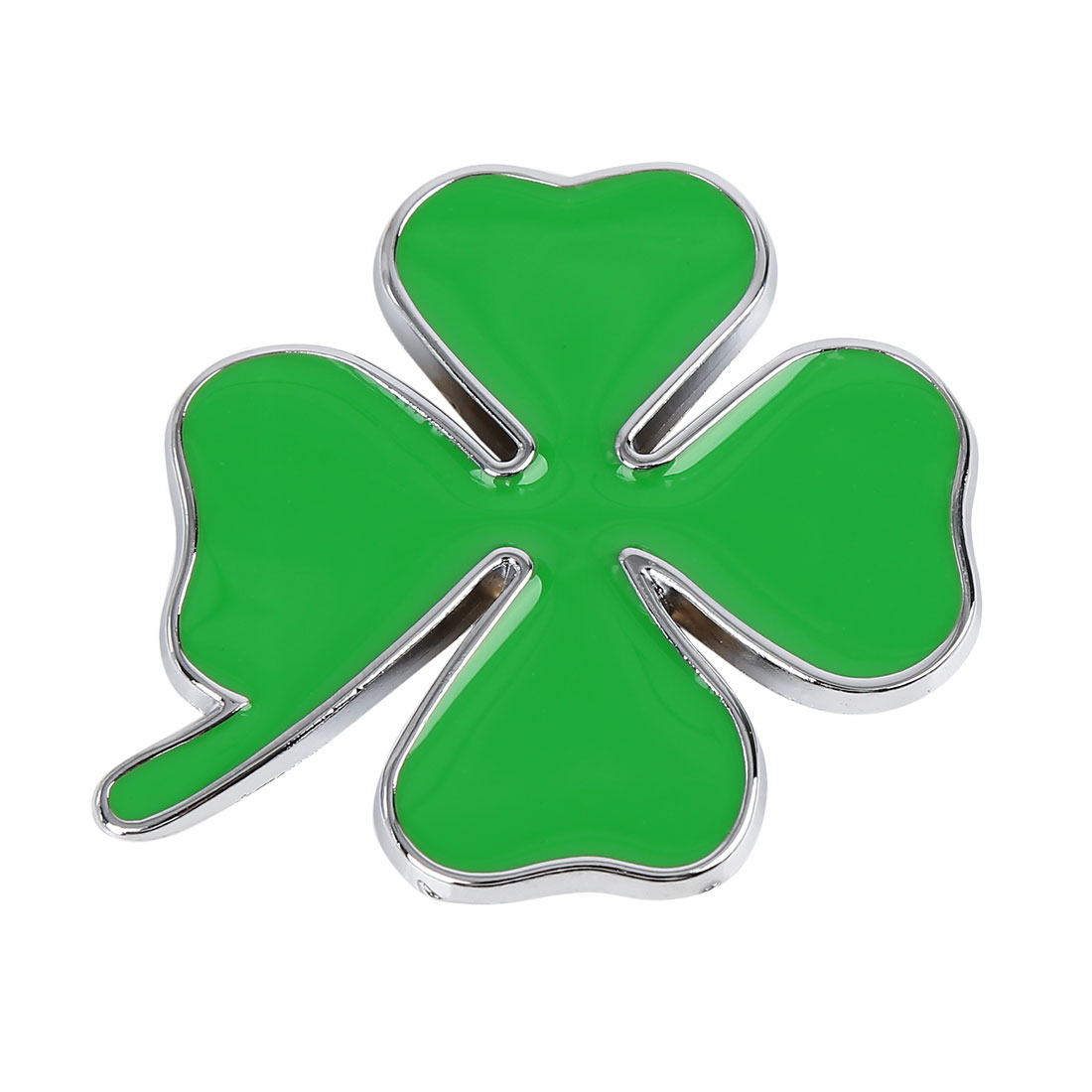 Green Four Leaves Shaped Car Decorative Emblem Badge Decal Sticker 7.5 x 6.5cm