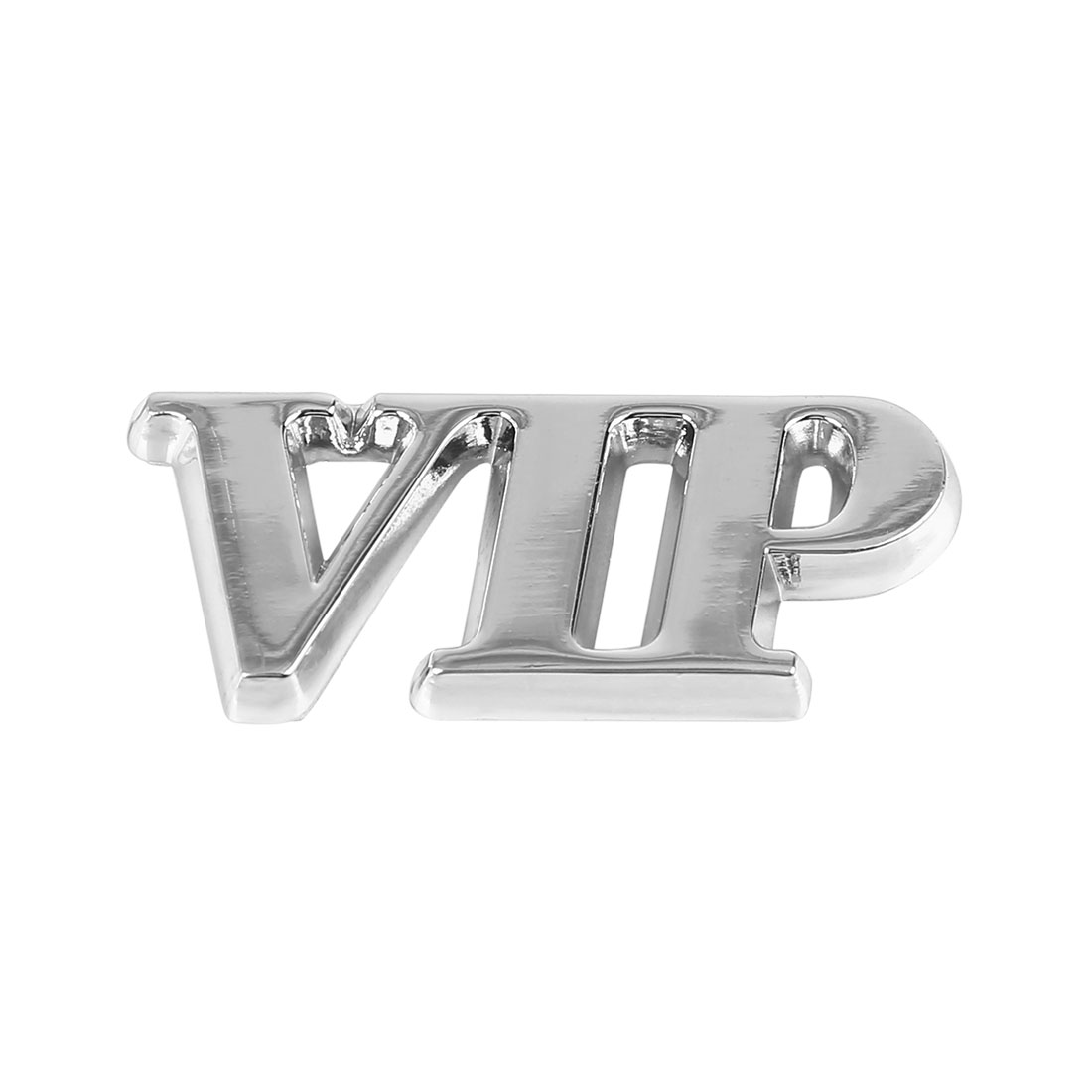 Silver Tone VIP Shaped Car Body Metal Decorative Emblem Badge Decal Sticker