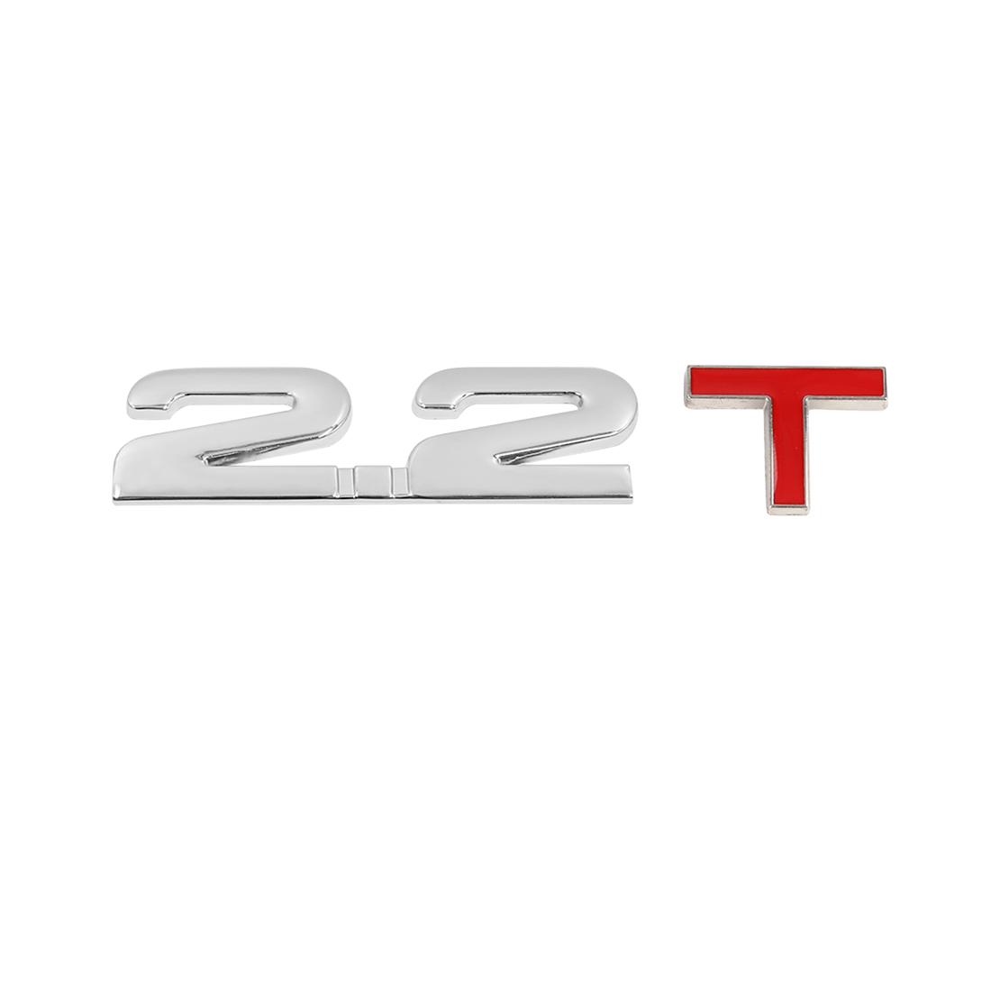 Universal 3D Metal 2.2T Shaped Car Decorative Emblem Badge Decal Sticker