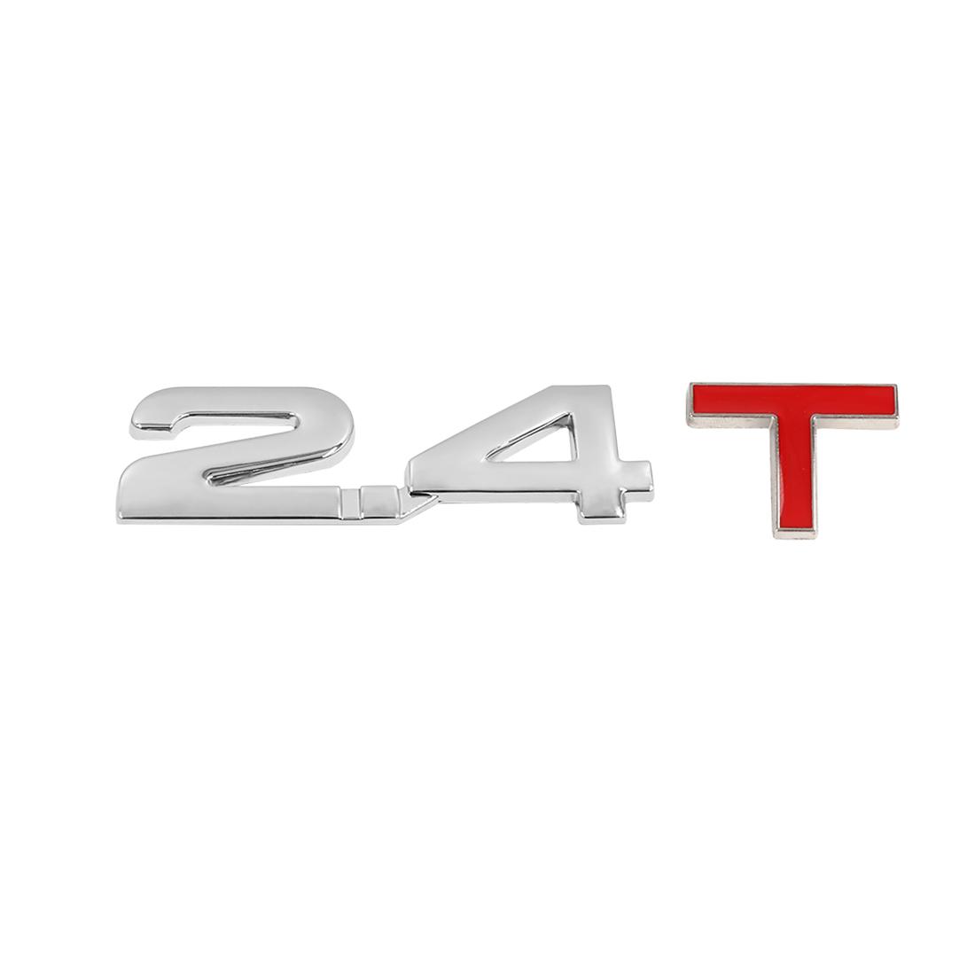 Universal 3D Metal 2.4T Shaped Car Decorative Emblem Badge Decal Sticker