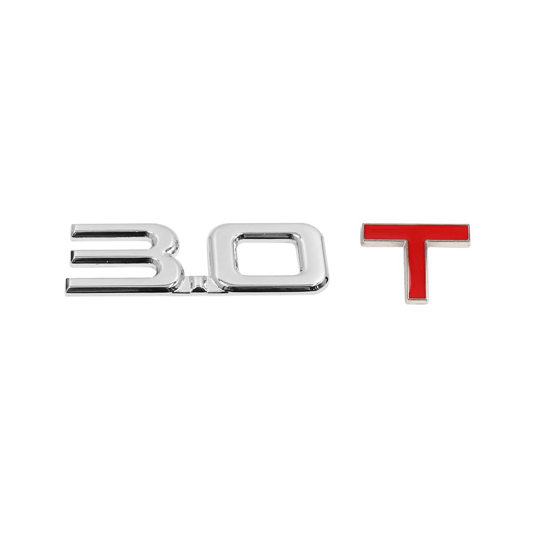 Universal 3D Metal 3.0T Shaped Car Decorative Emblem Badge Decal Sticker