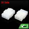 30 Sets 6.3mm 6 Pin Car Vehicle Electrical Wire Connector Male Female Housing