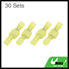 30 Sets Yellow Male Female Fully Insulated Wire Crimp Terminal Nylon Connector