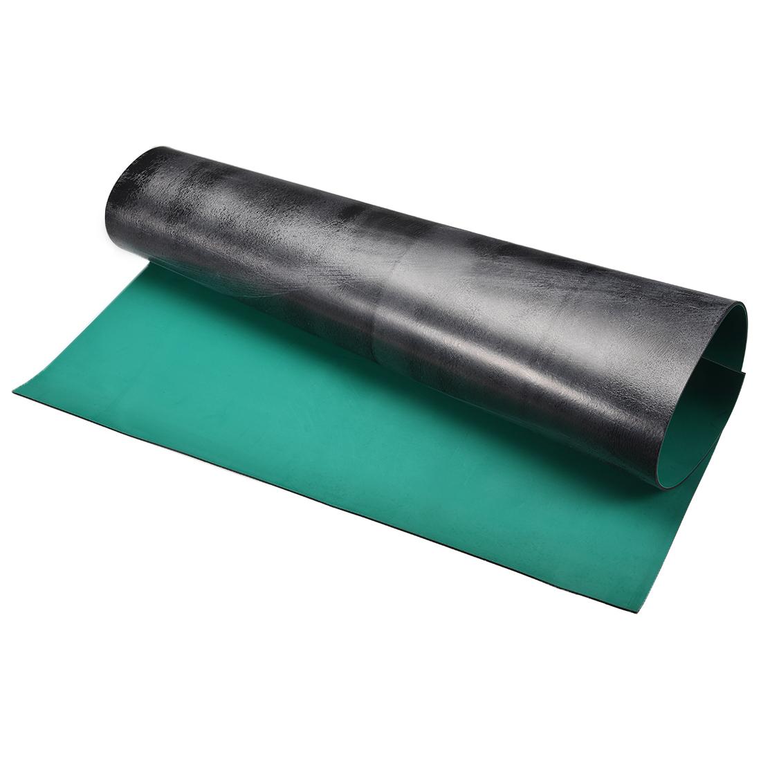 Anti Static ESD Mat High Temperature Rubber Table Mat 1000 x 1000mm Green Black