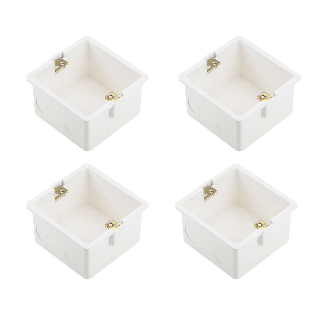 Wall Switch Box Deep Case Recessed Mount 86 Type Single Gang White 82*80*47 4pcs