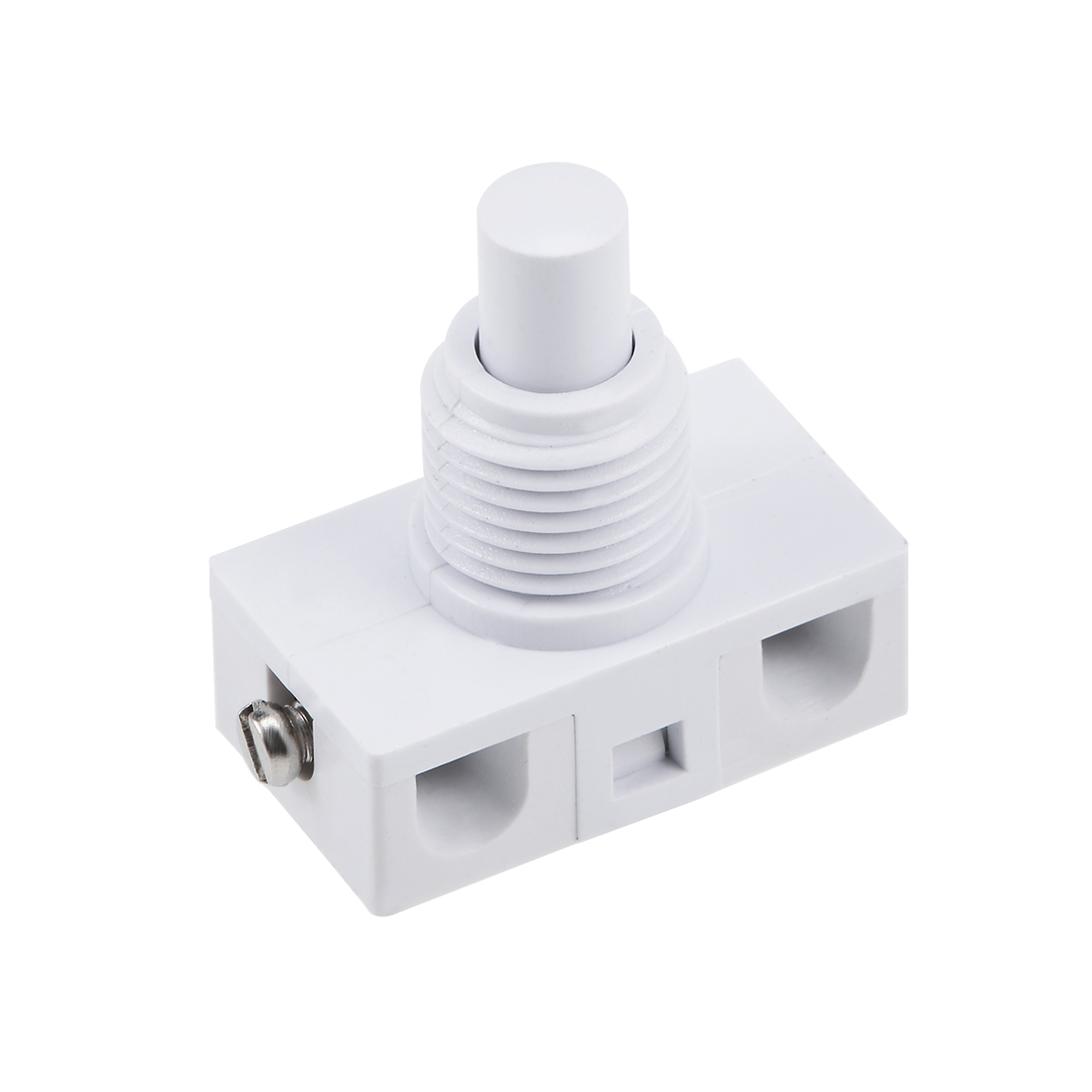 Inline Foot Pedal Push Button Switch, UFO Type Lamp Light Control Latching white