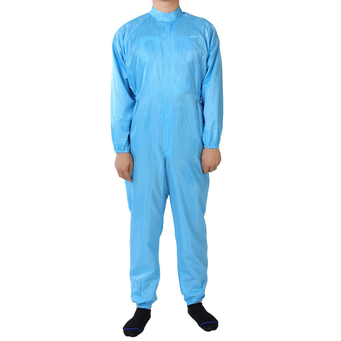 Anti Static Overalls Siamese Unisex ESD Lab Coat Button Up XXXL Blue