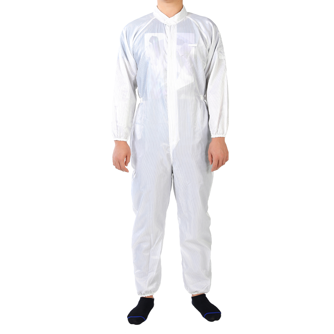 Anti Static Overalls Siamese Unisex ESD Lab Coat Button Up M White
