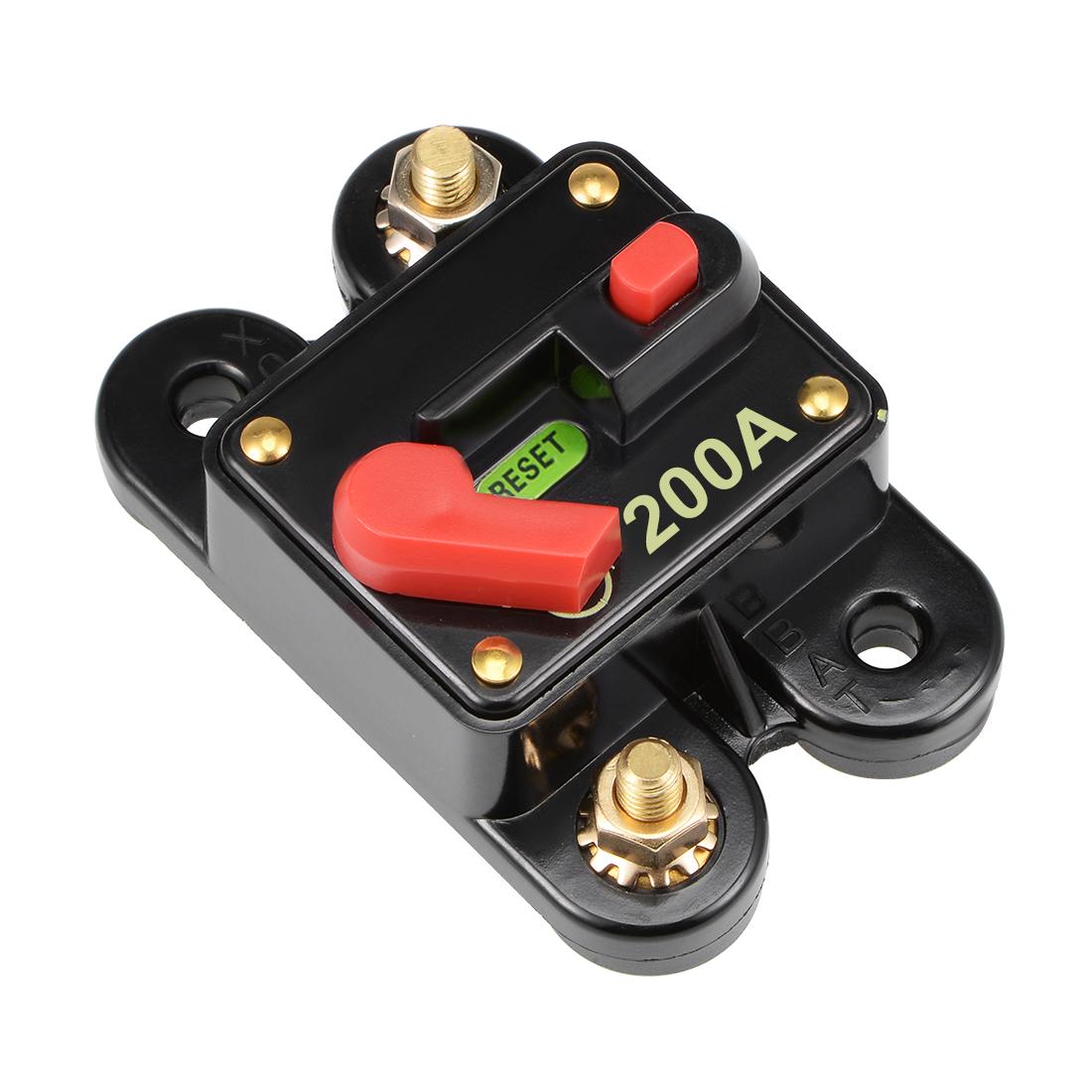 Fuse Holder 200A 12-48V Inline Block Circuit Break Audio Amplifier Inverter