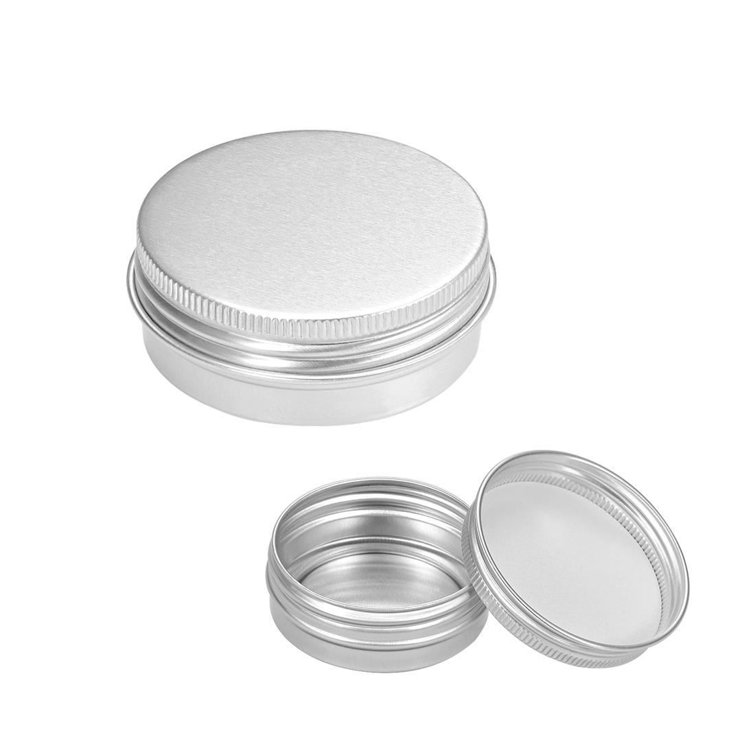 1 oz Round Aluminum Cans Tin Can Screw Top Metal Lid Containers, 30ml, 16pcs
