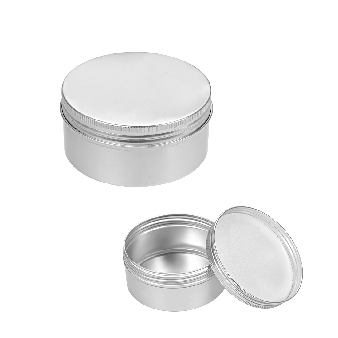 6.8 oz Round Aluminum Cans Tin Can Screw Top Metal Lid Containers, 200ml, 6pcs