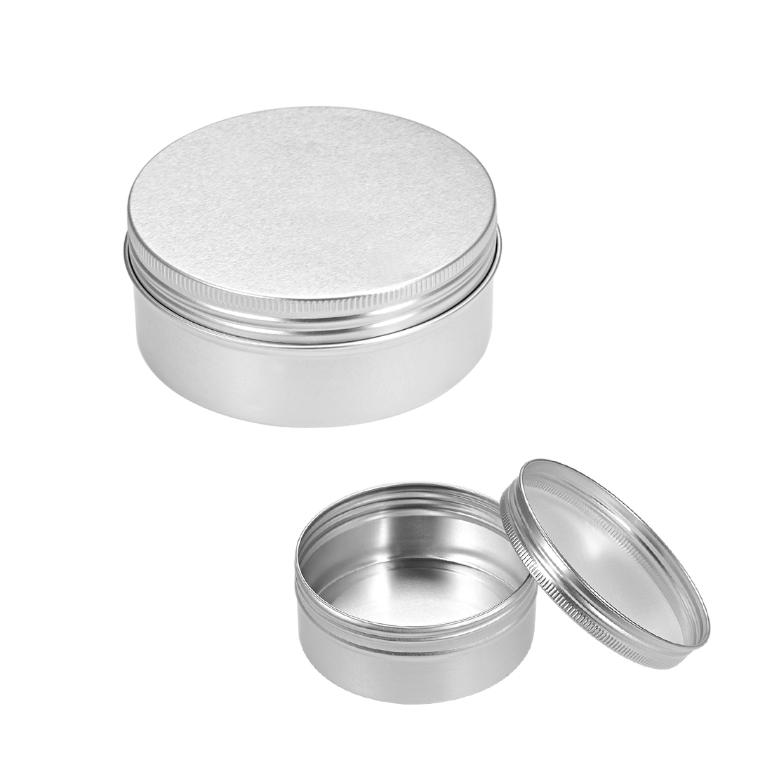 8.3 oz Round Aluminum Cans Tin Can Screw Top Metal Lid Containers, 250ml, 5pcs