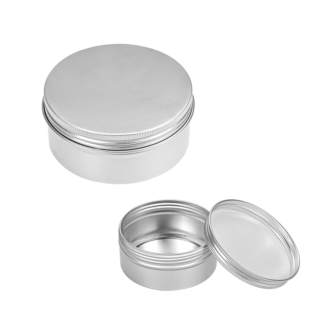 5oz Round Aluminum Cans Tin Can Screw Top Metal Lid Containers, 150ml, 10pcs