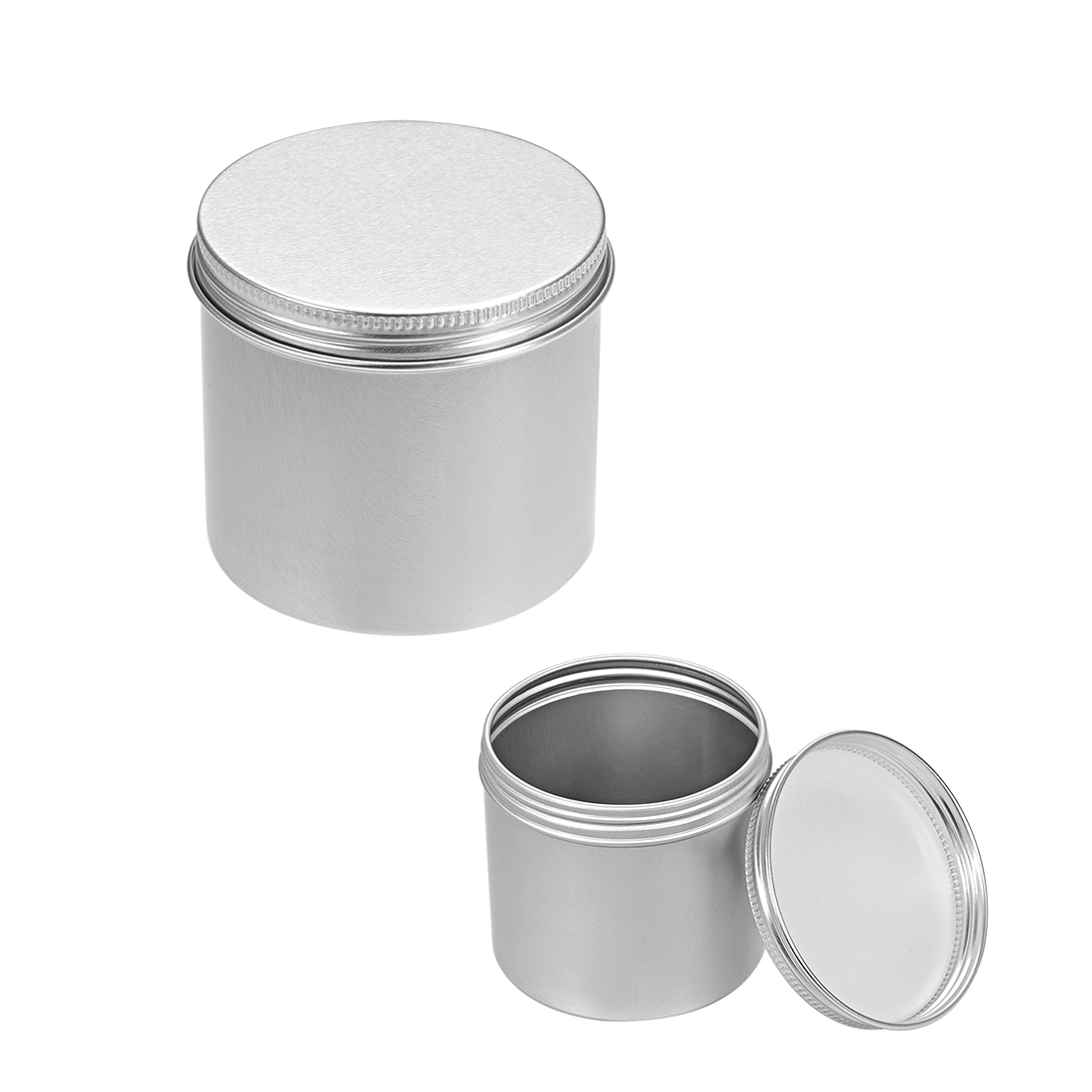8.3oz Round Aluminum Cans Tin Can Screw Top Metal Lid Containers 250ml, 5pcs
