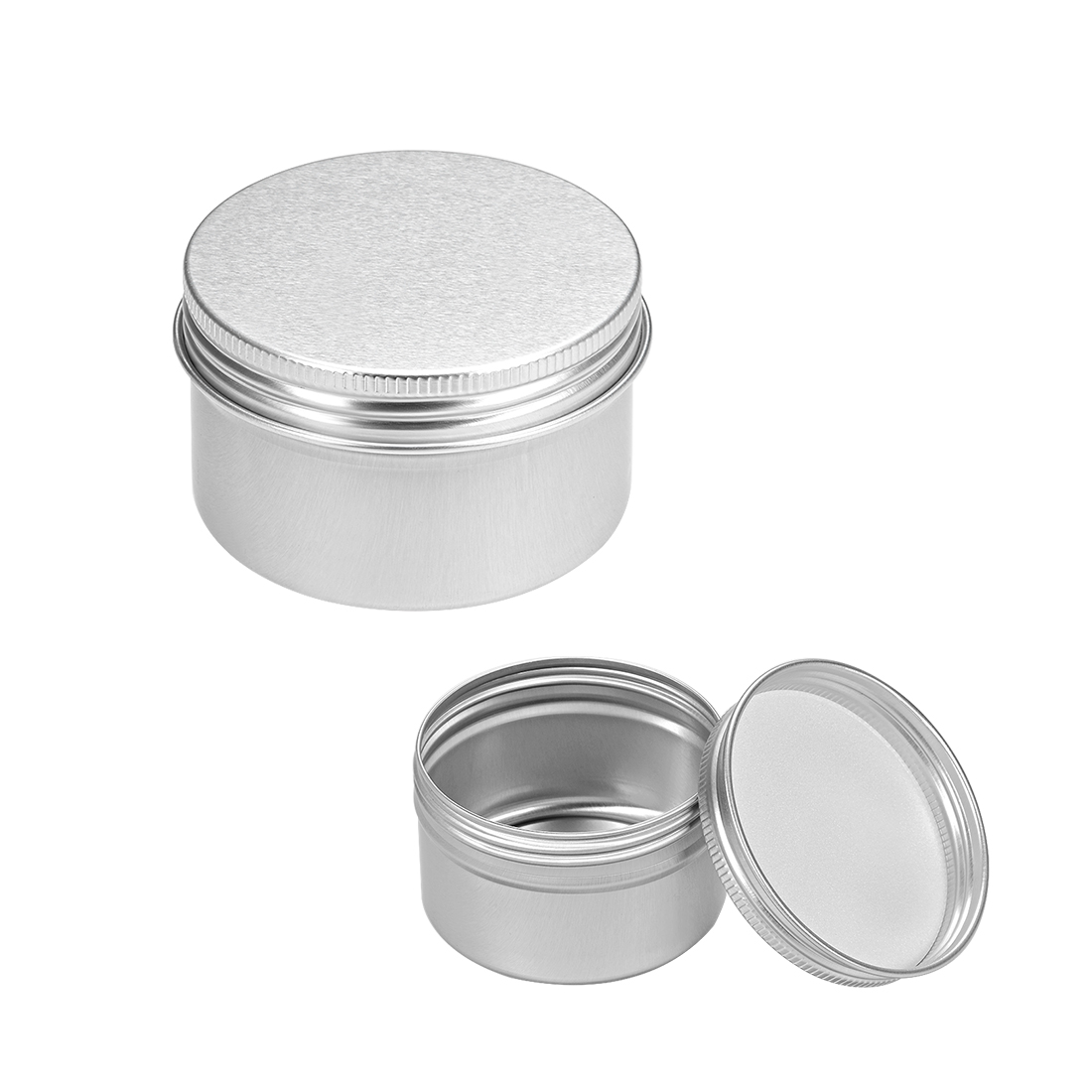 2.7 oz Round Aluminum Cans Tin Can Screw Top Metal Lid Containers 80ml 6pcs