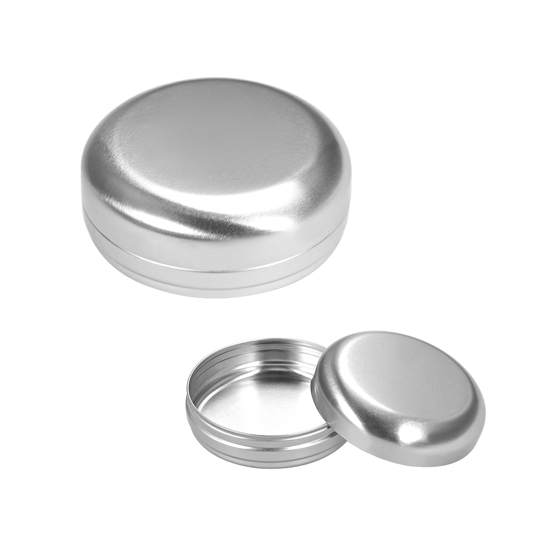 3.4 oz Round Aluminum Cans Tin Screw Top Metal Lid Containers 100ml 1pcs