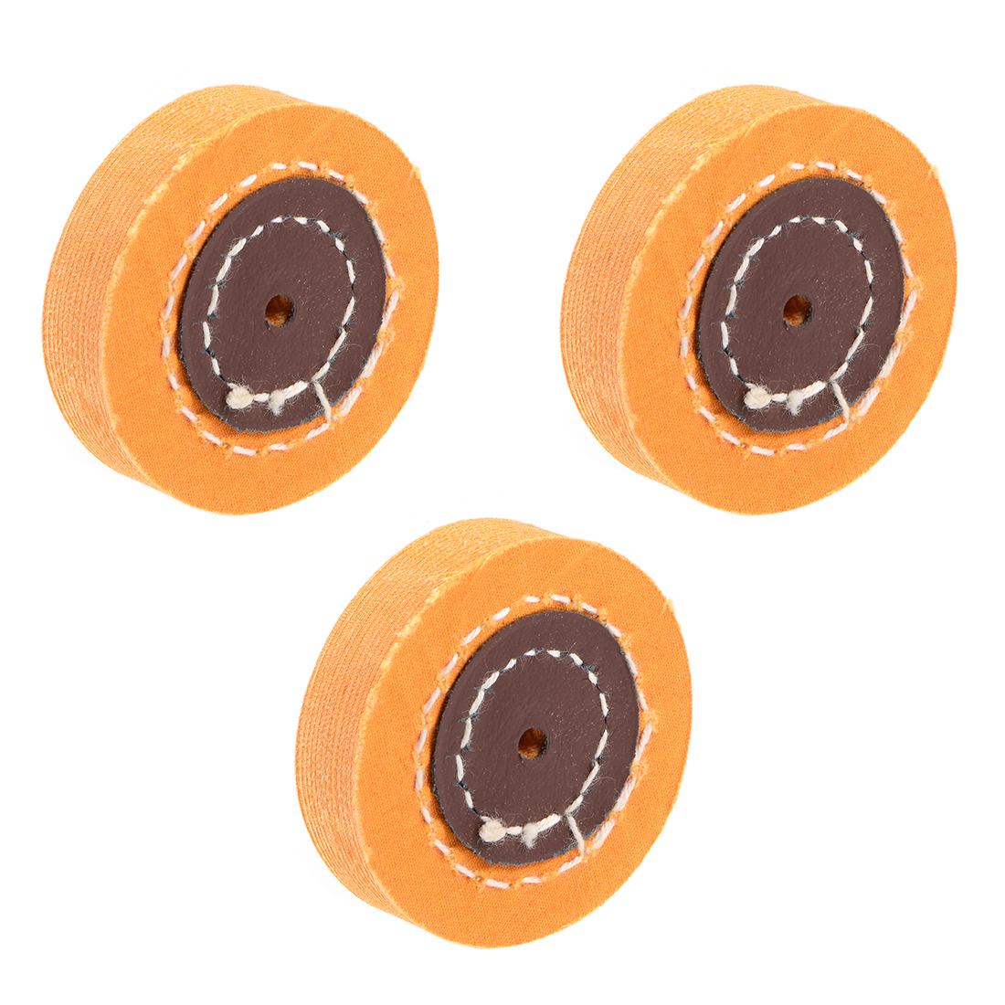 2-Inch Cotton Buffing Wheel Polishing Pad for Bench Grinder Tool 3 Pcs