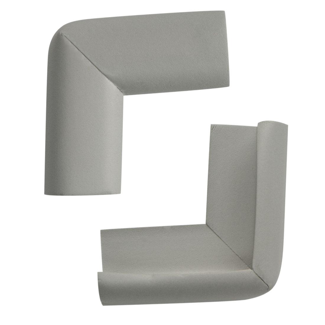 2pcs Furniture Edge Foam Corner Guard Cushion Angle Protector w Self-stick, Grey