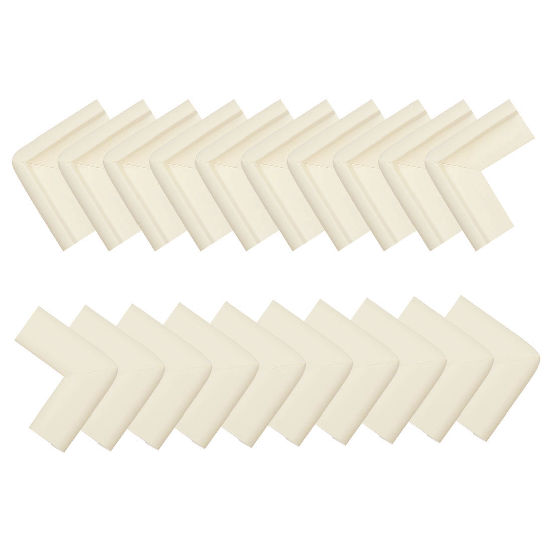 20pcs Furniture Edge Corner Guard Cushion Angle Protector w Self-stick Beige