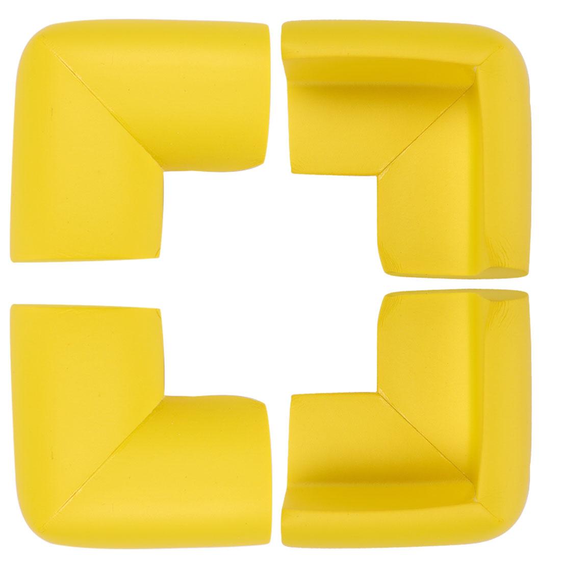 Desk Table Edge Foam Corner Cushions Guard Soft Bumper Protector 4pcs Yellow