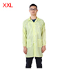 Anti Static Overalls Unisex ESD Lab Coat Button Up XXL Yellow
