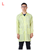 Anti Static Overalls Unisex ESD Lab Coat Button Up L Yellow