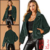 Allegra K Women's Winter Fashion Loose Faux Fur Short Coat Dark Green XS