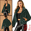 Allegra K Women's Winter Fashion Loose Faux Fur Short Coat Dark Green S