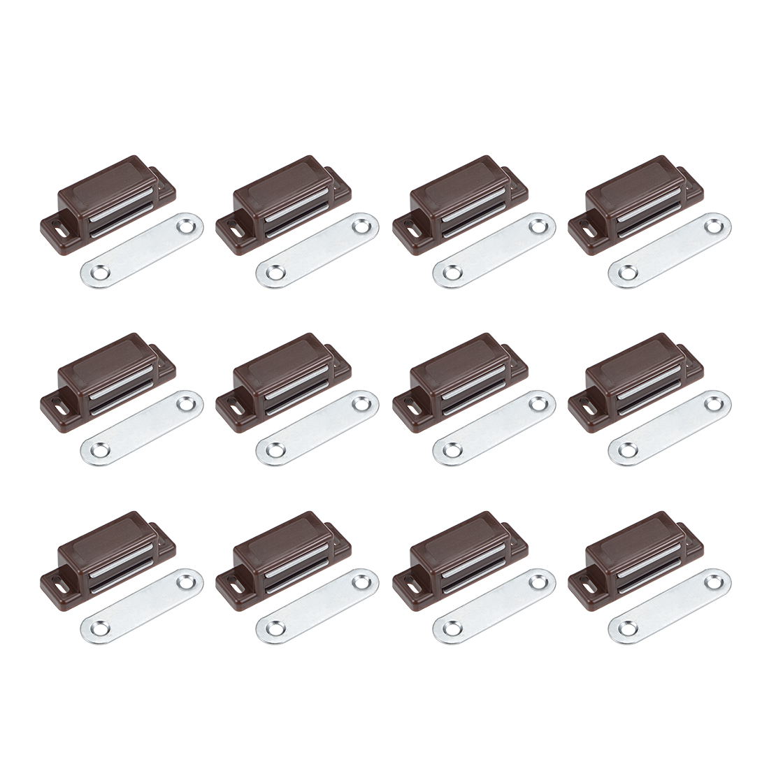 Cabinet Door Catch, Heavy-duty Magnetic Magnet Latch Cabinet Catches 12pcs