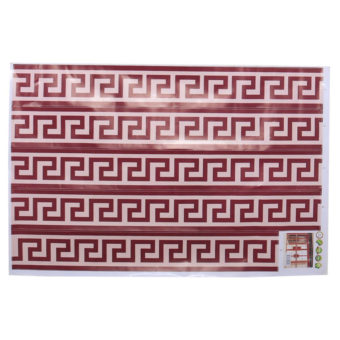 Border Wall Sticker Wall Paper DIY Glass Decals Peel Brown Maze Tile Sticker