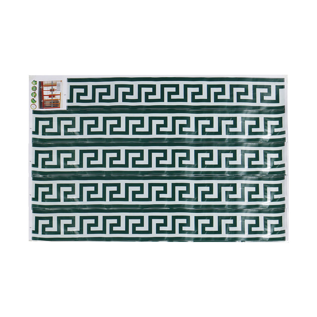 Border Wall Sticker Wall Paper DIY Glass Decals Green Maze Pattern Sticker
