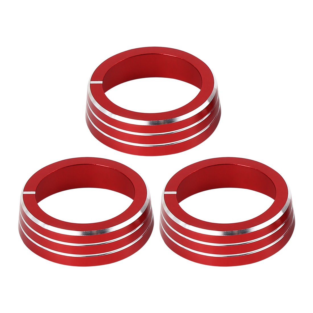 3 Pcs Red AC Climate Control Ring Knob Covers Trim for VW MK6 Golf GTI Jetta