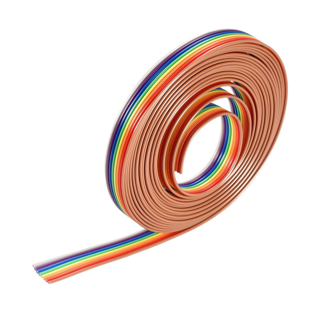 IDC Rainbow Wire Flat Ribbon Cable 8P 1.27mm Pitch 3meter/9.8ft Length
