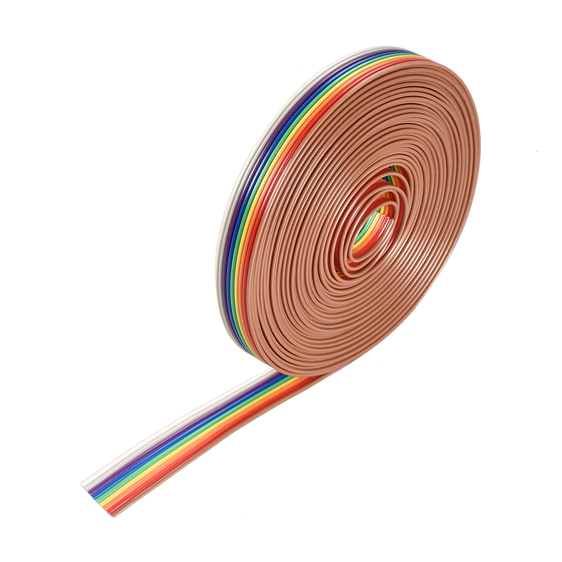 IDC Rainbow Wire Flat Ribbon Cable 9P 1.27mm Pitch 5meter/16.4ft Length