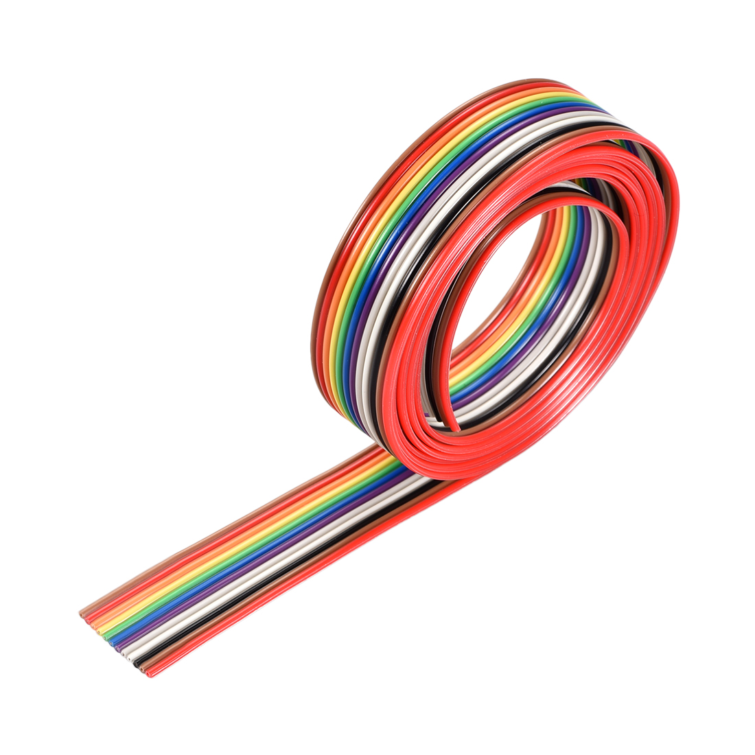 IDC Rainbow Wire Flat Ribbon Cable 12P 1.27mm Pitch 1meter/3.3ft Length