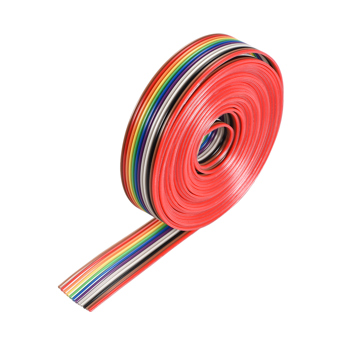 IDC Rainbow Wire Flat Ribbon Cable 12P 1.27mm Pitch 3meter/9.8ft Length