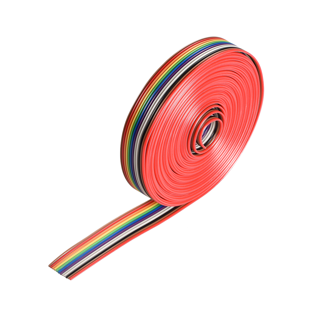 IDC Rainbow Wire Flat Ribbon Cable 12P 1.27mm Pitch 5meter/16.4ft Length