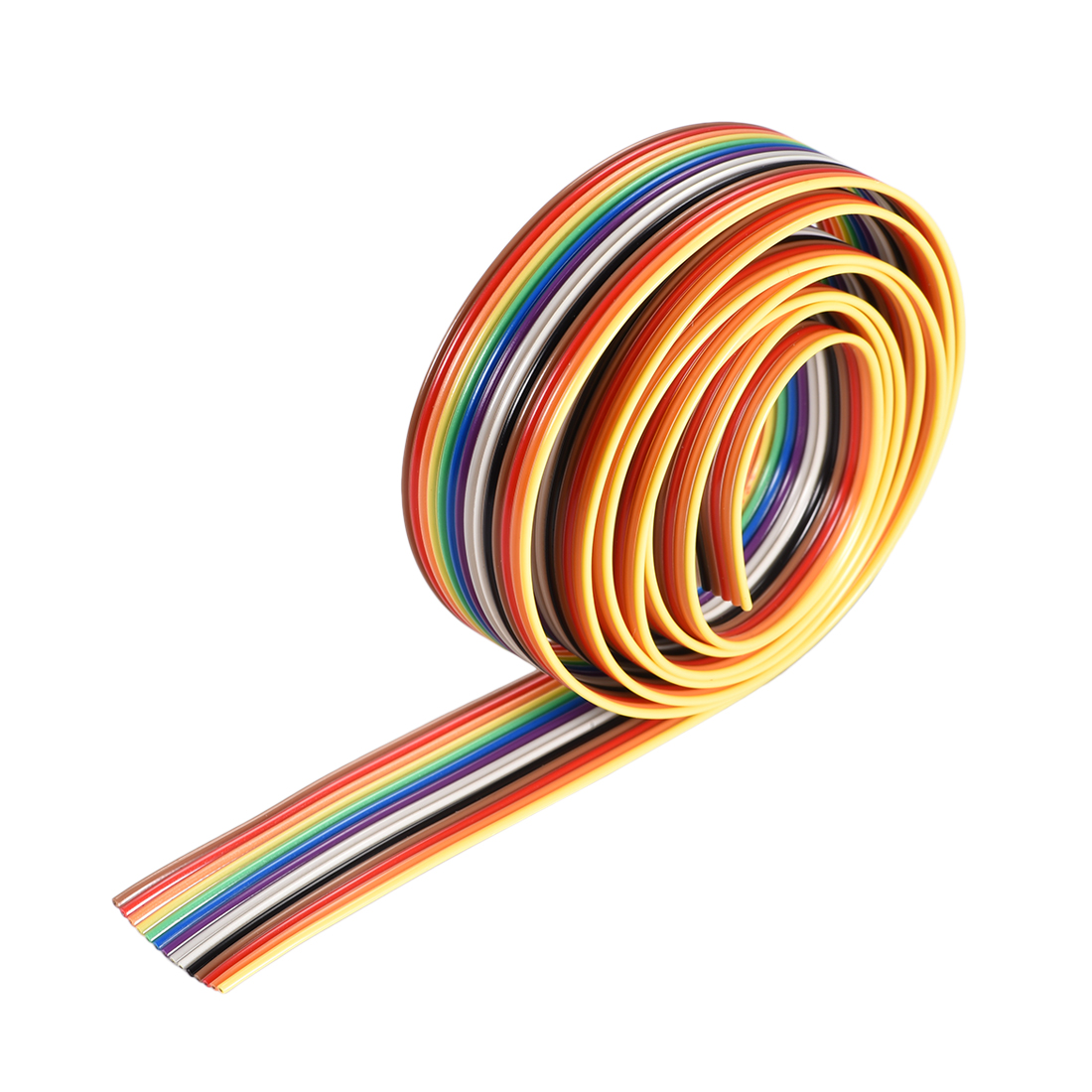 IDC Rainbow Wire Flat Ribbon Cable 14P 1.27mm Pitch 1meter/3.3ft Length