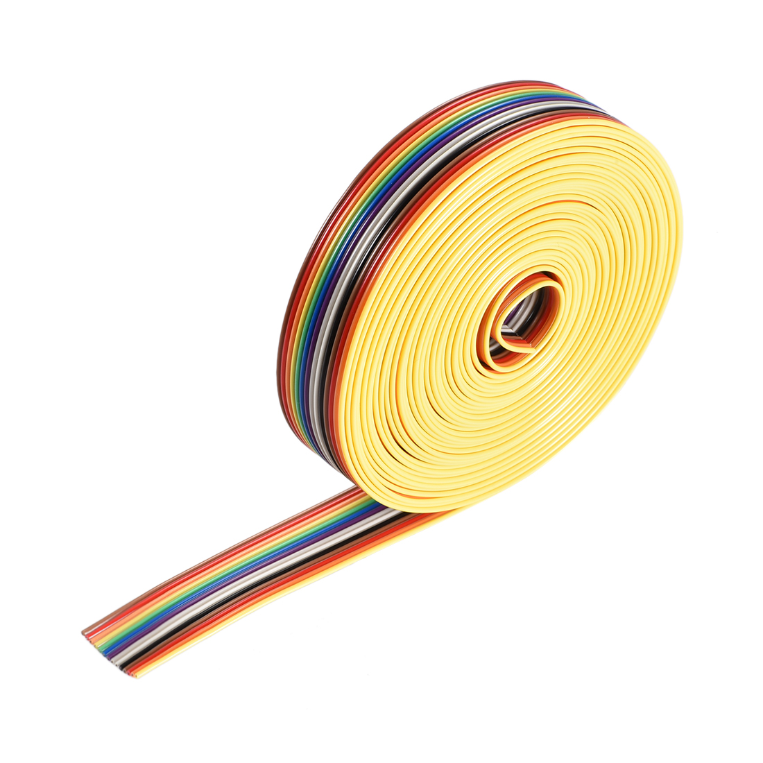 IDC Rainbow Wire Flat Ribbon Cable 14P 1.27mm Pitch 5meter/16.4ft Length