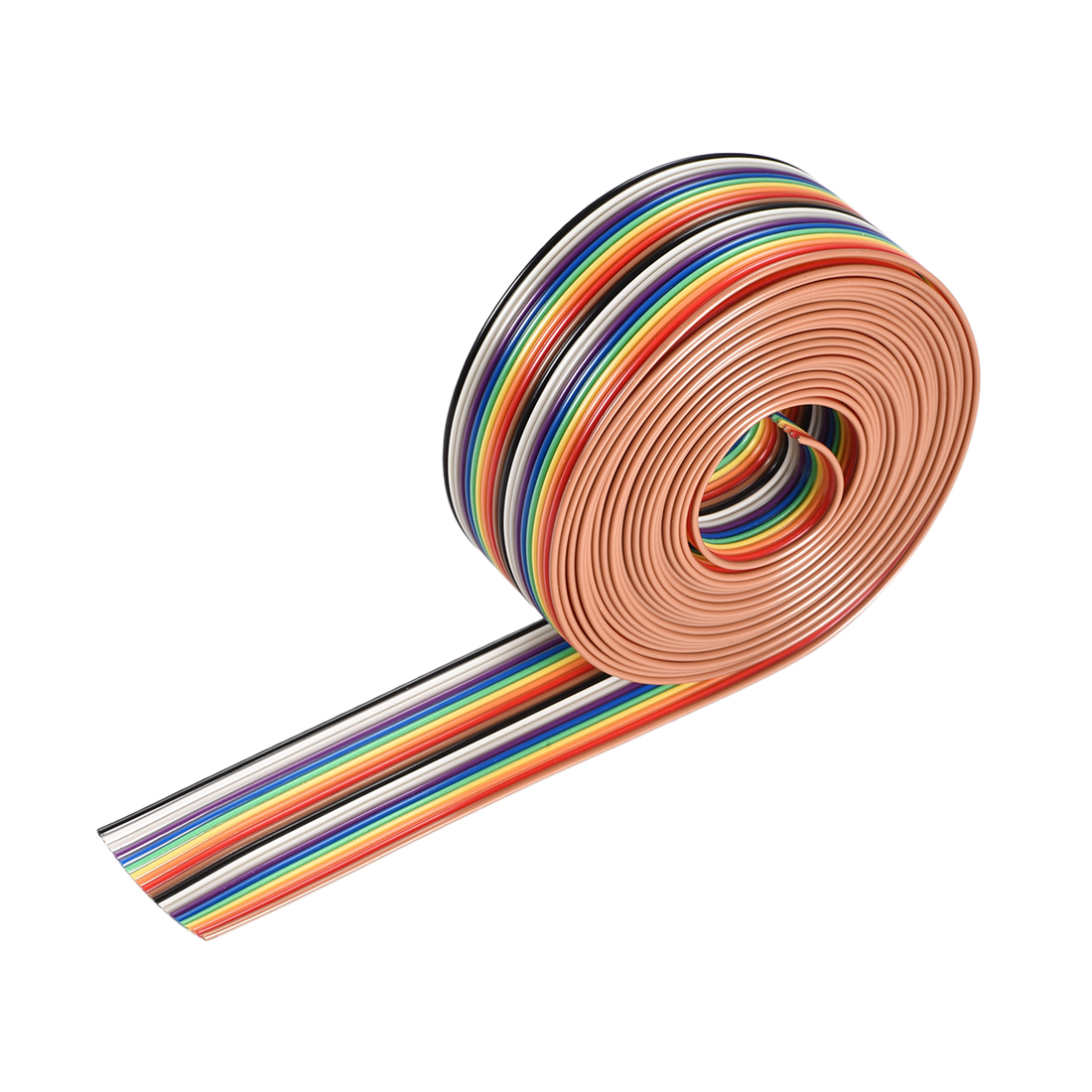IDC Rainbow Wire Flat Ribbon Cable 20P 1.27mm Pitch 3meter/9.8ft Length