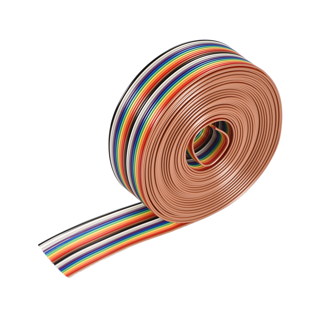 IDC Rainbow Wire Flat Ribbon Cable 20P 1.27mm Pitch 5meter/16.4ft Length