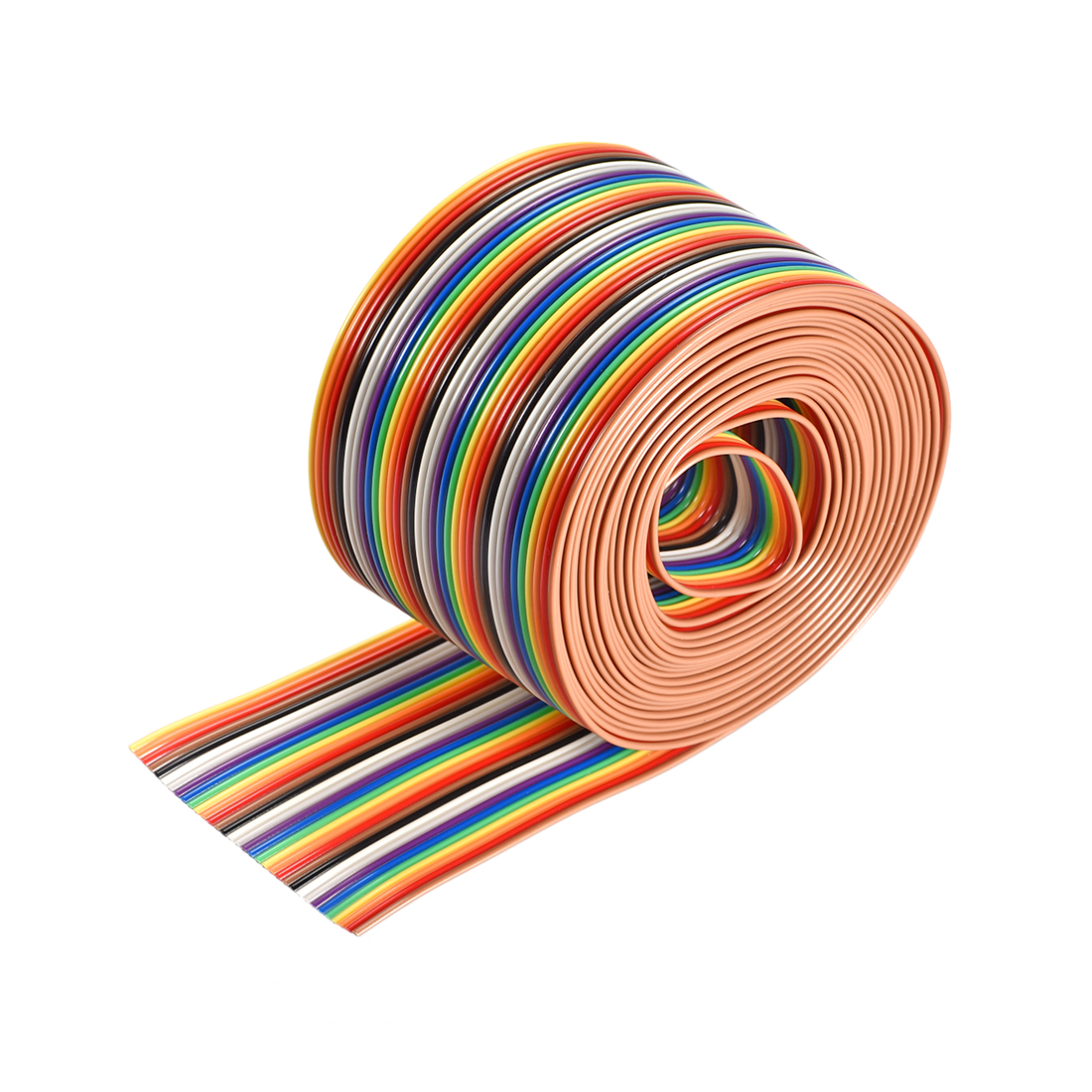 IDC Rainbow Wire Flat Ribbon Cable 34P 1.27mm Pitch 3meter/9.8ft Length