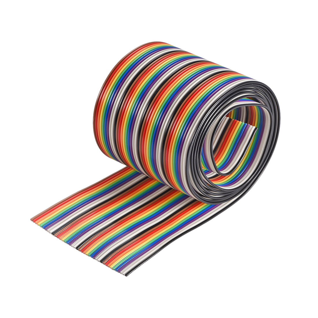 IDC Rainbow Wire Flat Ribbon Cable 40P 1.27mm Pitch 1meter/3.3ft Length