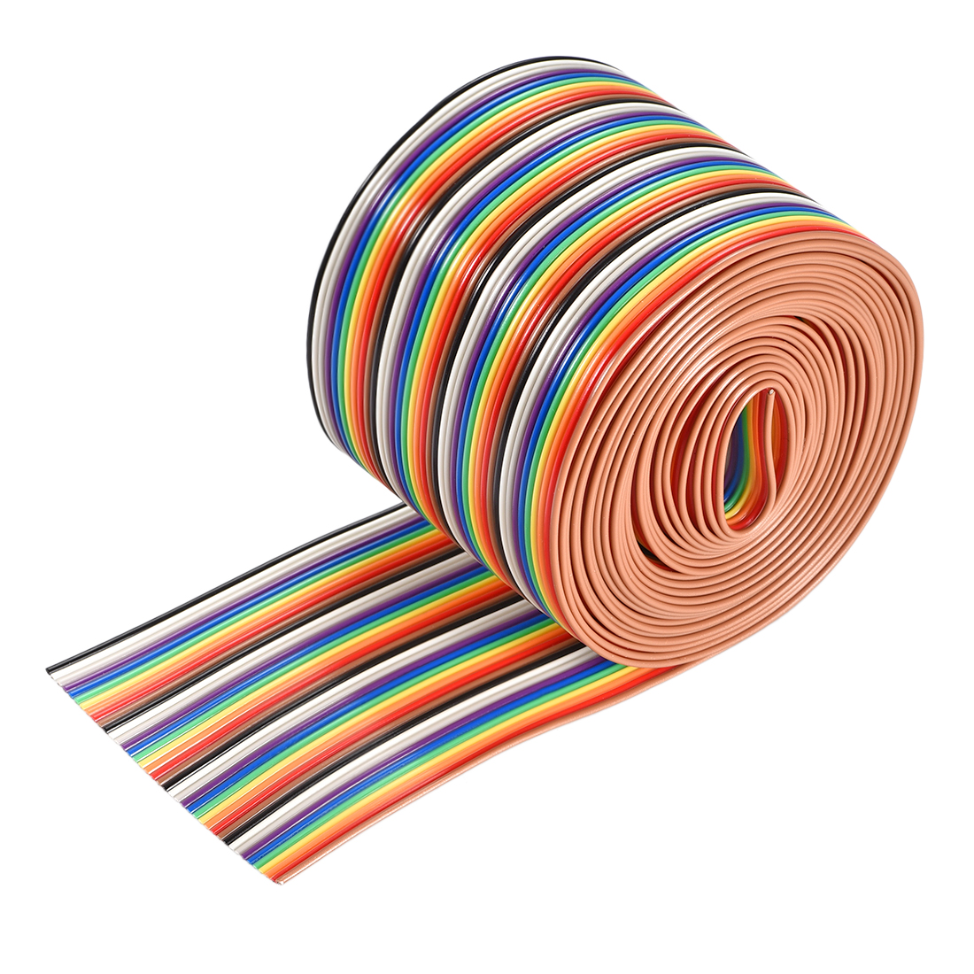 IDC Rainbow Wire Flat Ribbon Cable 40P 1.27mm Pitch 3meter/9.8ft Length