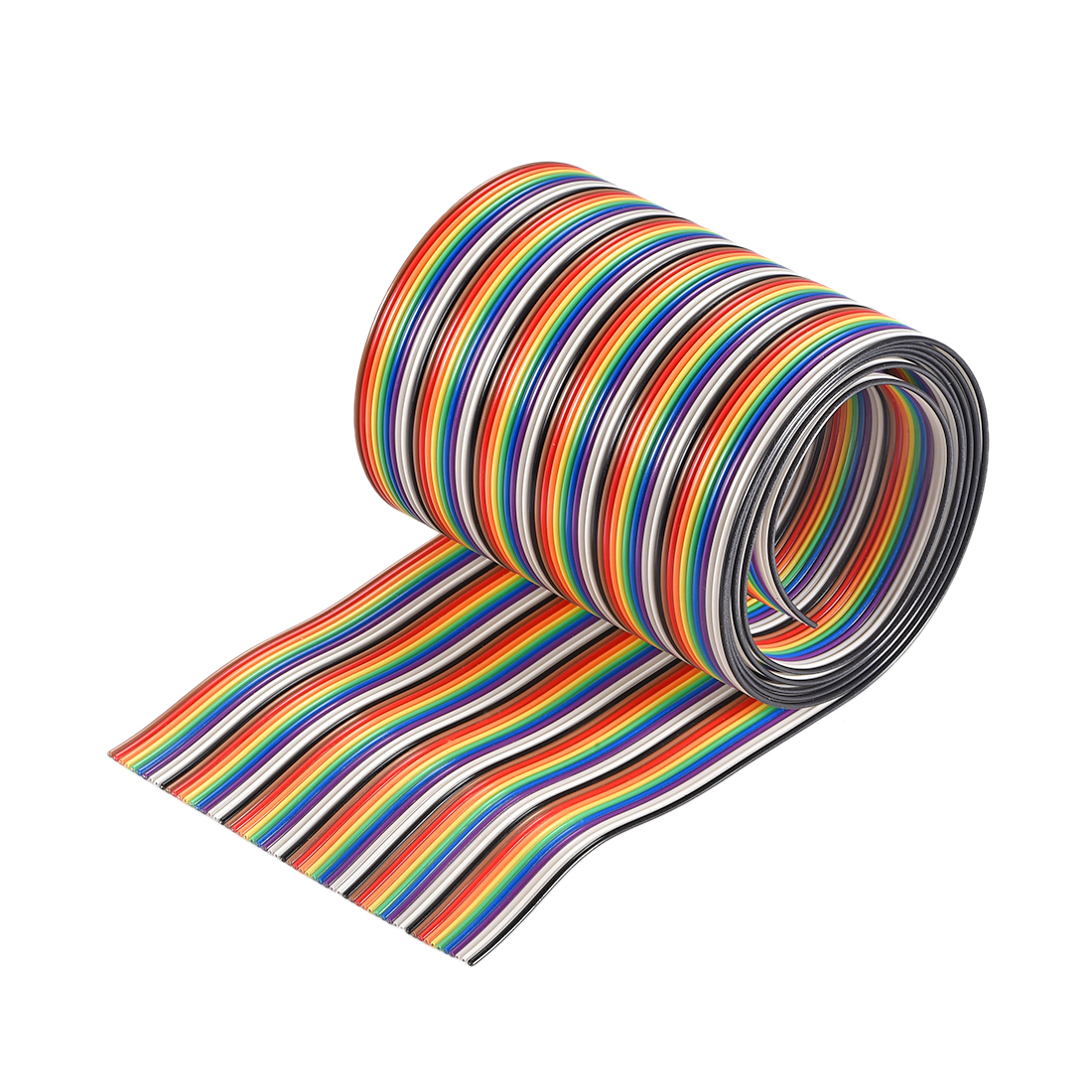 IDC Rainbow Wire Flat Ribbon Cable 60P 1.27mm Pitch 1meter/3.3ft Length