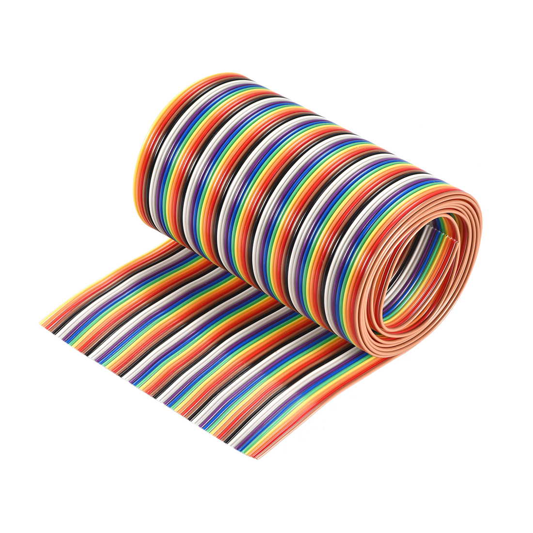 IDC Rainbow Wire Flat Ribbon Cable 64P 1.27mm Pitch 1meter/3.3ft Length
