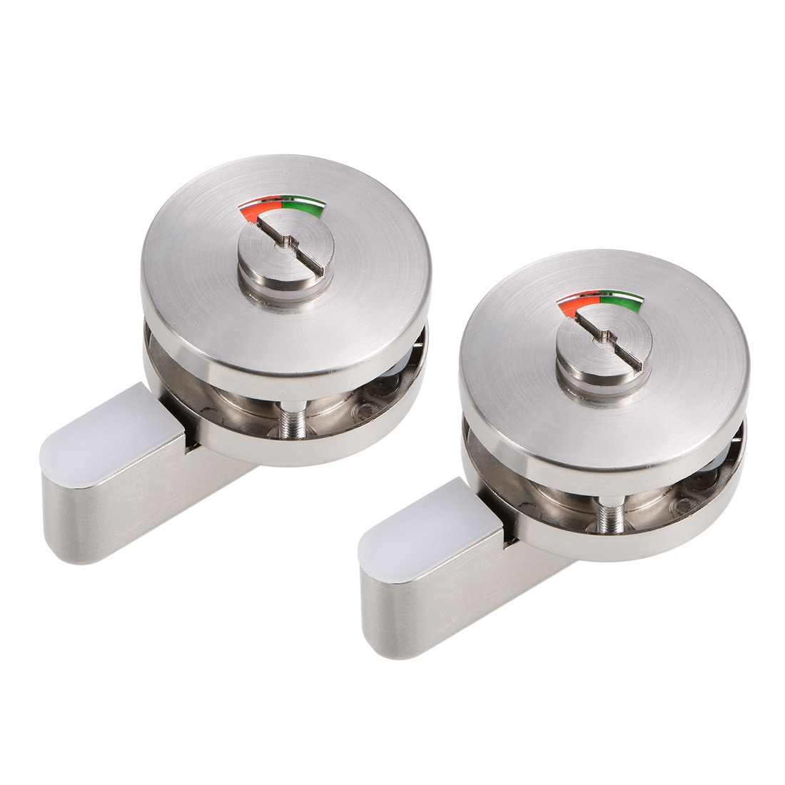 Privacy Indicator Door lock 52mm Dia Stainless Steel for Public Toilet 2 Pcs