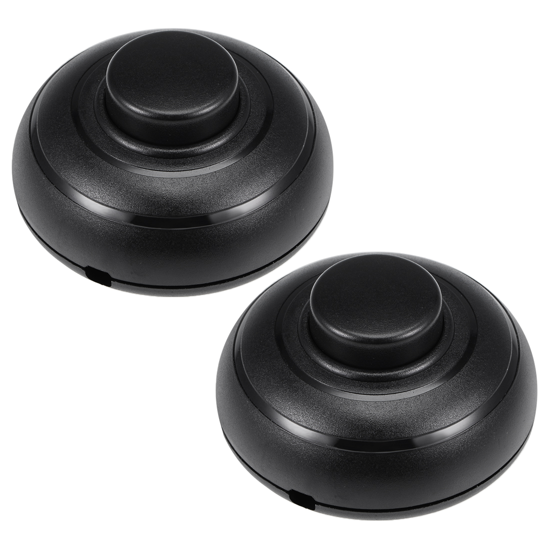Inline Foot Pedal Push Lamp Switch, Push for LED Light ON-OFF Control Black 2Pcs