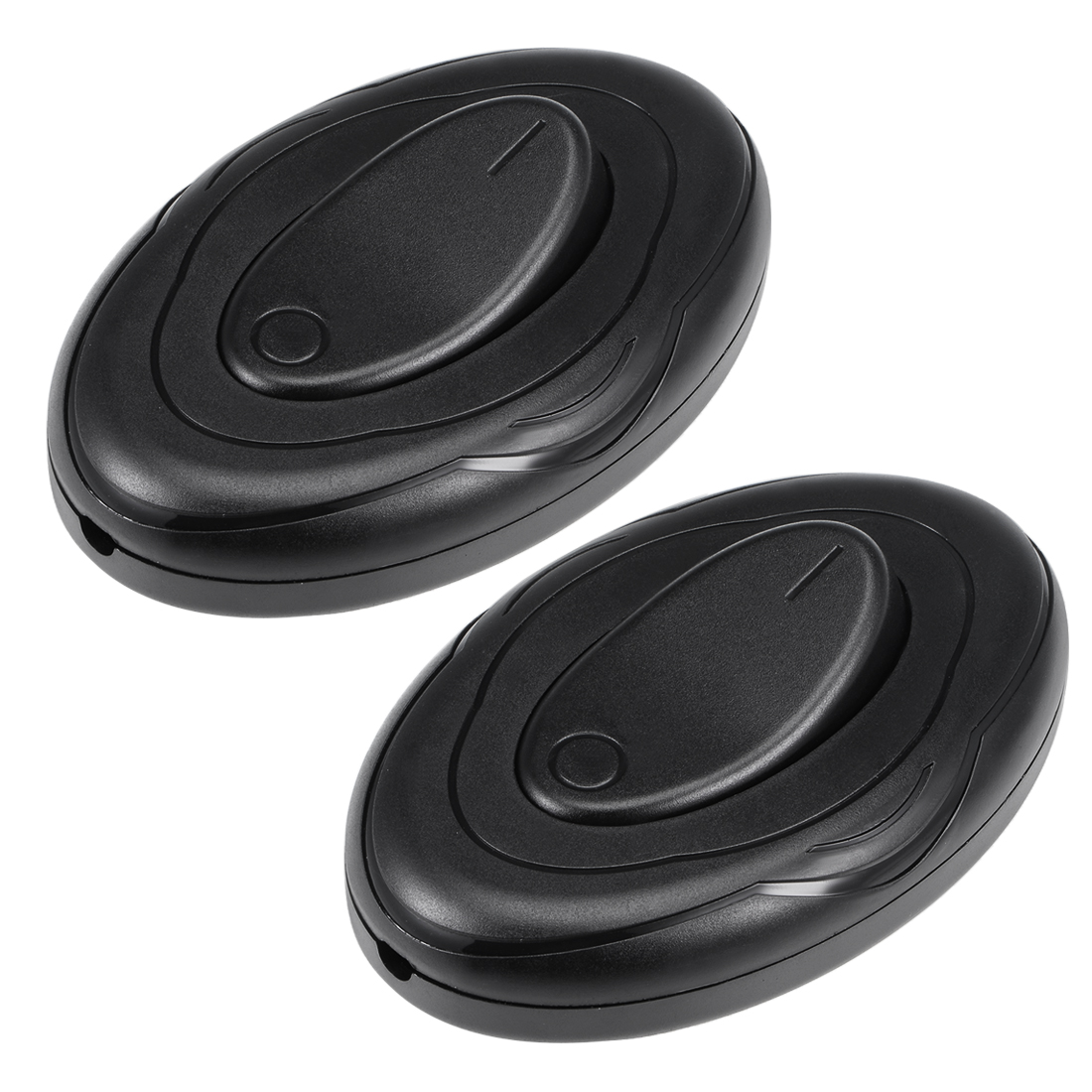 Inline Foot Pedal Push Button Switch, Oval Lamp Light Control ON-OFF Black 2Pcs