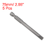 5pcs Slotted Bits 1/4 Inch Hex Shank 75mm Length Magnetic Screwdriver SL6